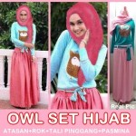 owl set hijab 100
