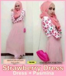 Strawberry Dress Rp.90rb