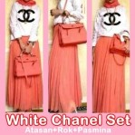 white chanel set 100